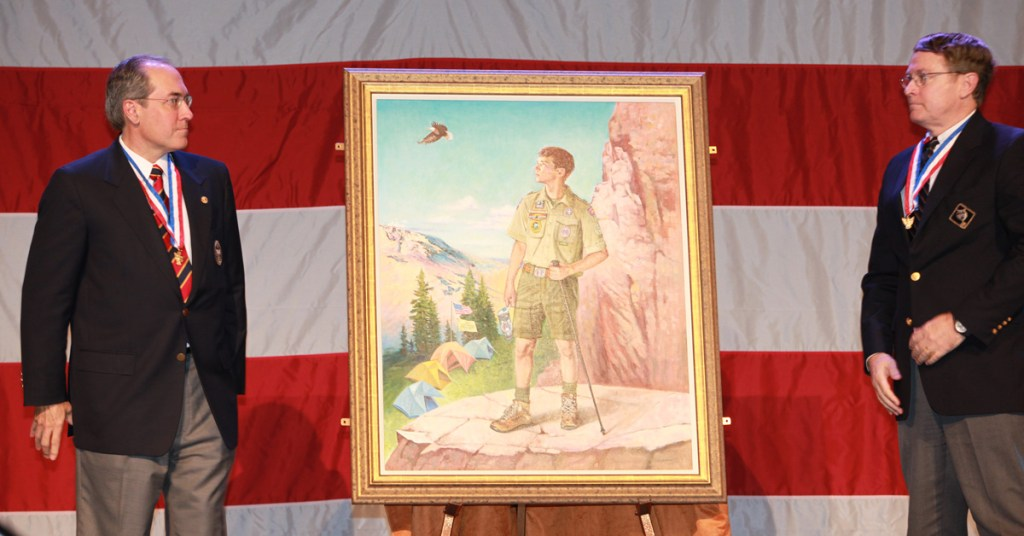 Glenn-Adams-with-Csatari-painting