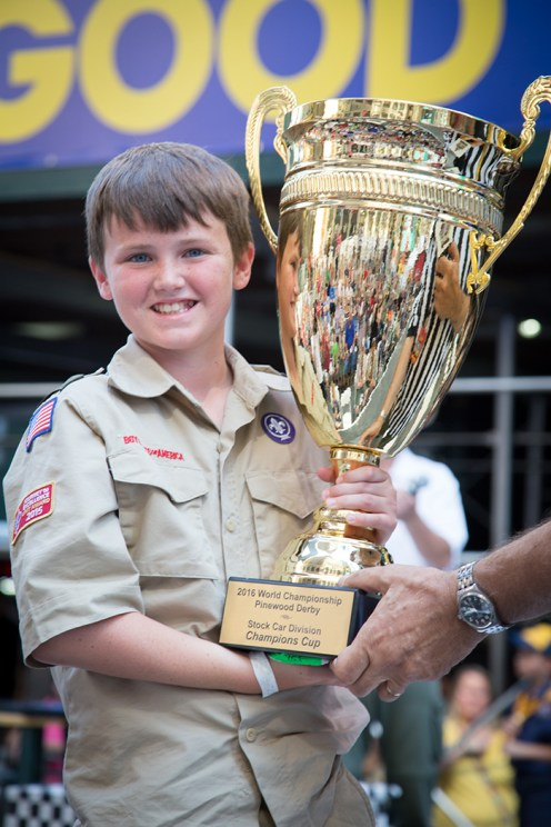 Taylor Dietsch, a Webelos from Black Swamp Council in Ohio