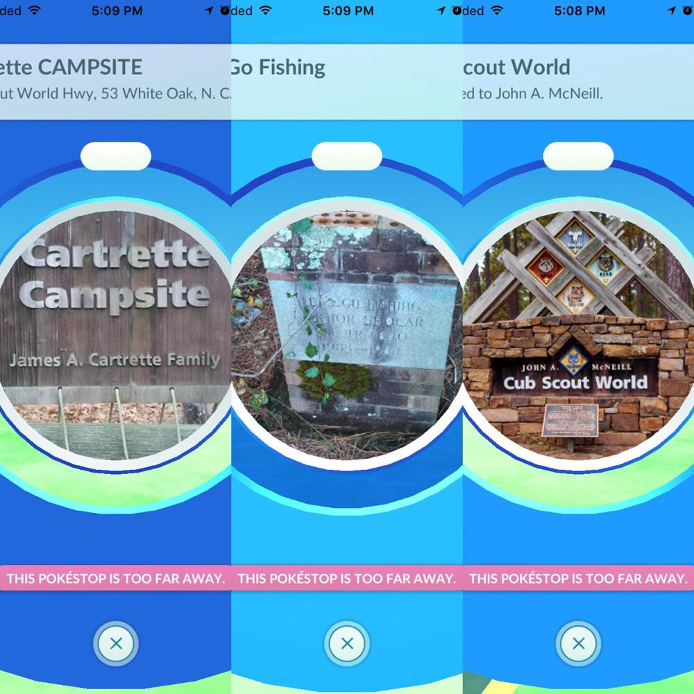 Cape Fear Scout Reservation PokeStop