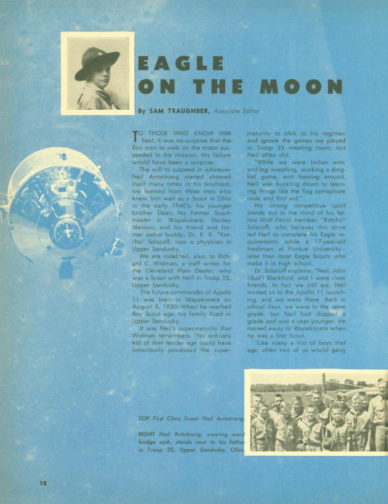 Neil Armstrong Scouting magazine 1 of 3