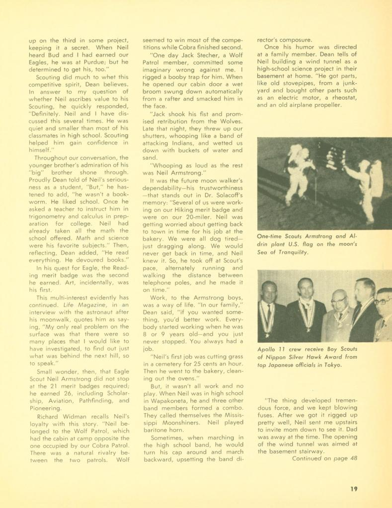 Neil Armstrong Scouting magazine 2 of 3