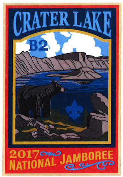 Crater Lake 2017 Jamboree subcamp patch