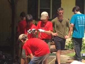 Louisiana flooding volunteers