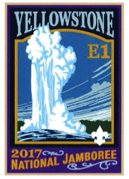 Yellowstone 2017 Jamboree subcamp patch