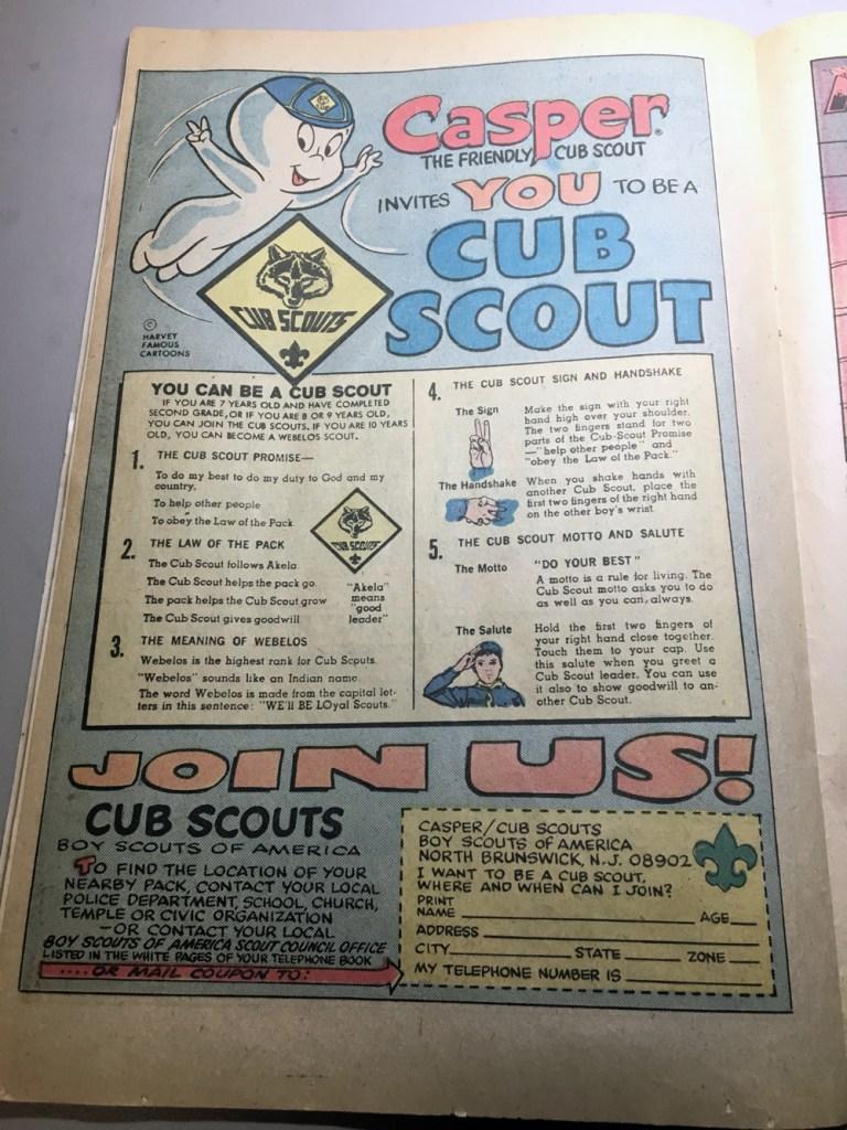 Casper join Cub Scouting