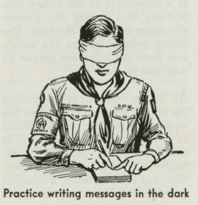 scout-writing-in-blindfold
