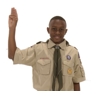 Boy Scout sign