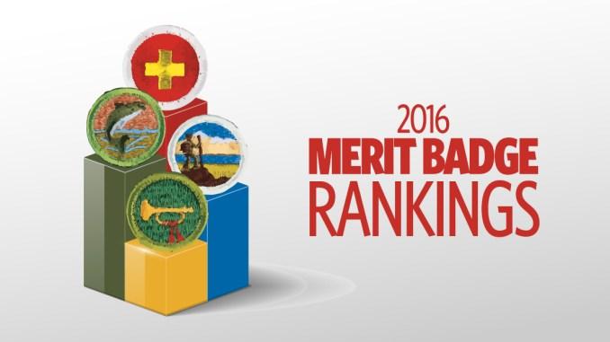 2016 Merit Badge Rankings The Most And Least Popular Merit Badges