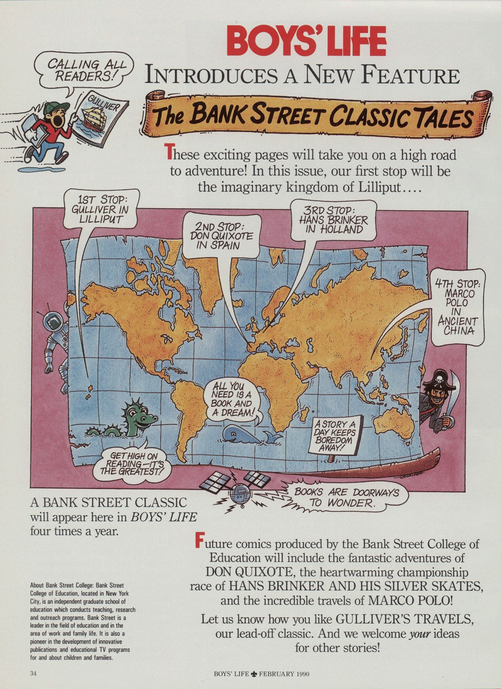 Bank Street Classic Tales Boys Life February 1990