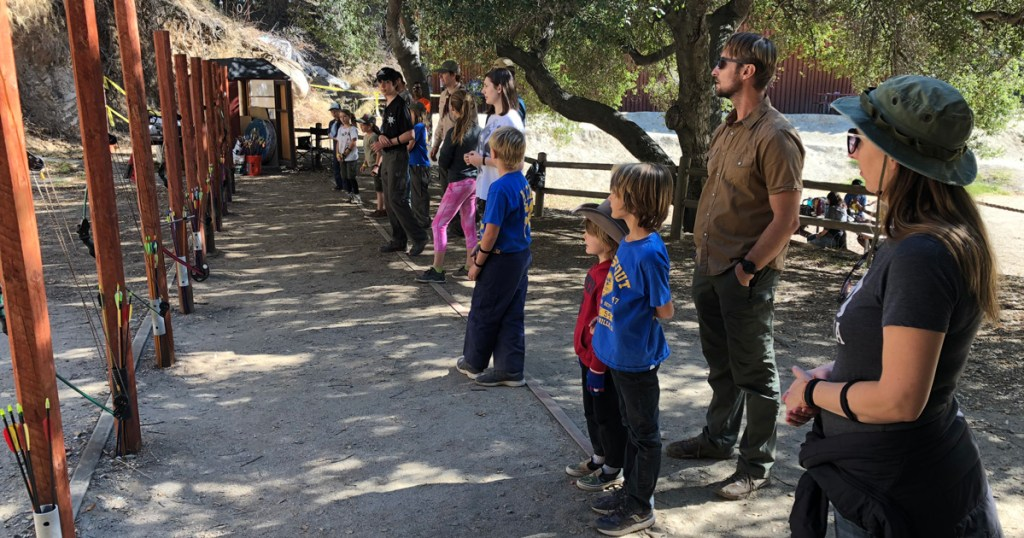To keep the Cub Scouts occupied during their evacuation, the adults organized archery, hiking and exploring the camp.