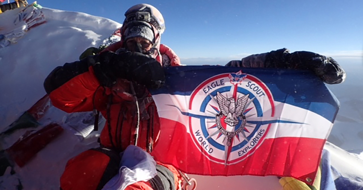 Scoutmaster conquers Mount Everest to complete his Seven Summits quest