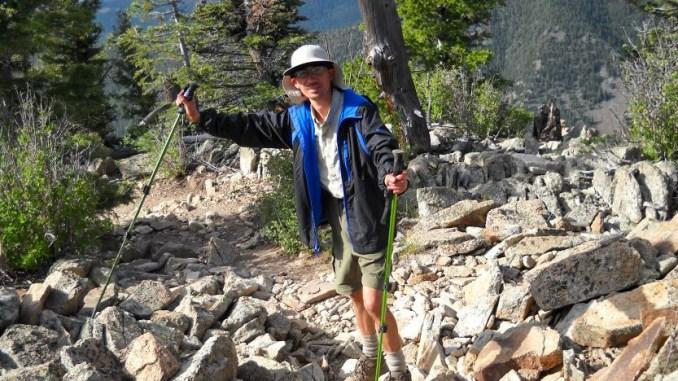 David Taylor pauses during his 2012 Philmont trek.