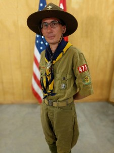 David in his full uniform.
