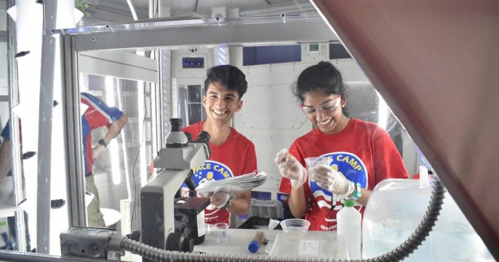Space Camp participants smile