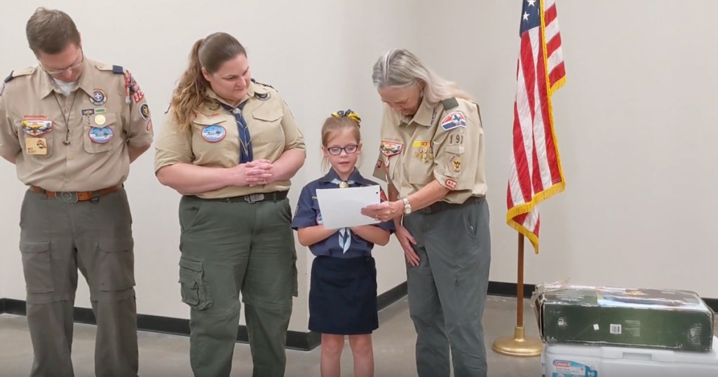 Ashley speaks to Troop 193