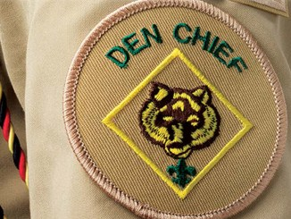 Den Chief patch on uniform