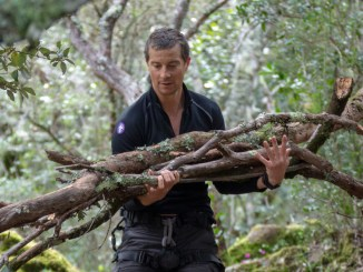 Bear Grylls collects firewood in Sardinia, Italy. (National Geographic/Jeff Ellingson)