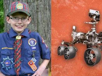 Eamon and an image of the Mars rover