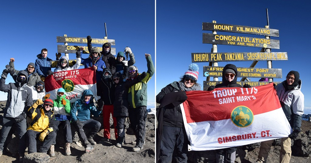 Two Scouts BSA troops — one for boys, one for girls — summit Mount Kilimanjaro