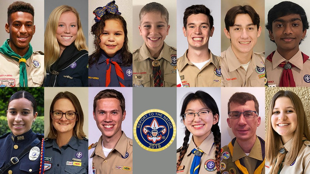 These 13 outstanding Scouts will deliver the BSA's Report to the Nation