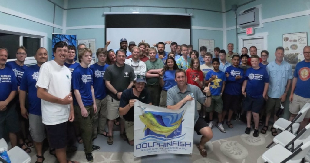 At Florida Sea Base, Scouts are helping ocean wildlife, one dolphinfish at a time