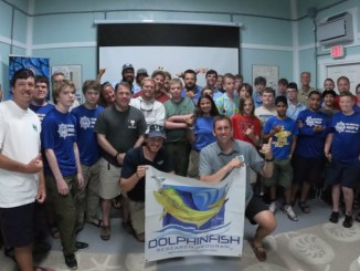 Group photo of dolphinfish program at Sea Base