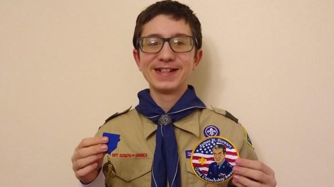 James holds the James M. Stewart Good Citizenship Award