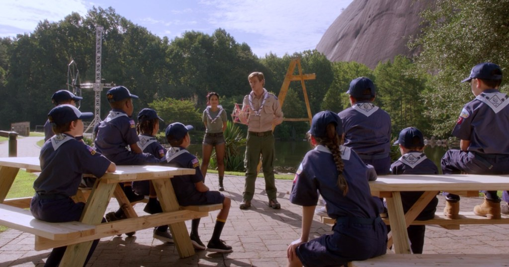 This scene in the CBS series confirms that MacGyver is a Scouting volunteer, like you