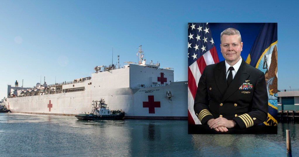 Captain of USNS Mercy, the hospital ship docked in Los Angeles, is an Eagle Scout