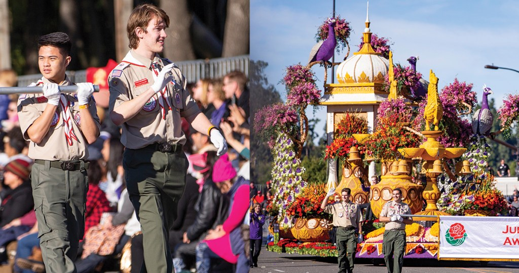 Scouter shares moments of watching son with cerebral palsy march in the Rose Parade