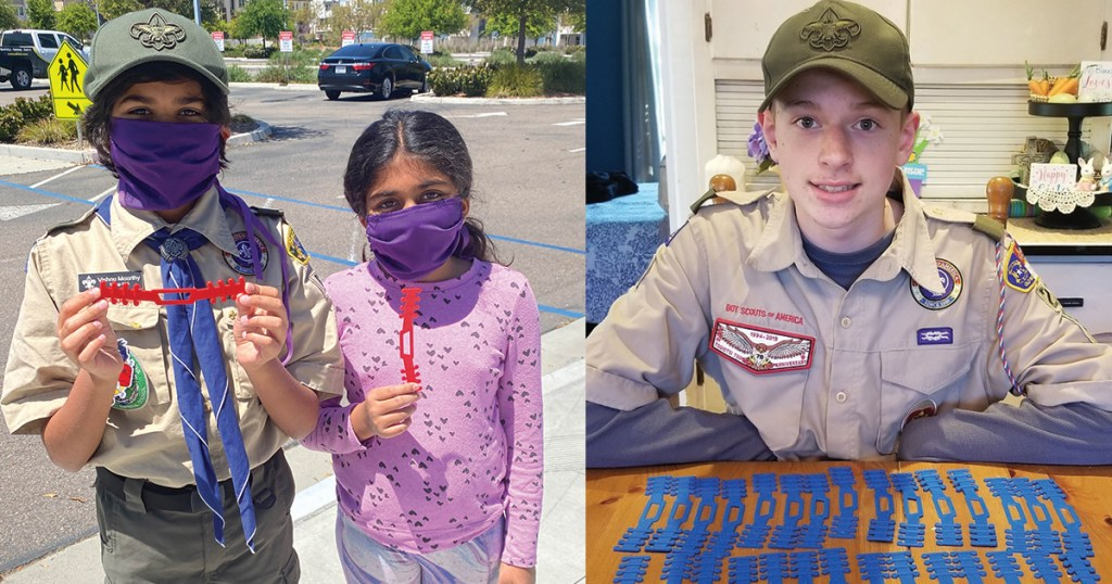Scouts fire up their 3D printers to help during the pandemic