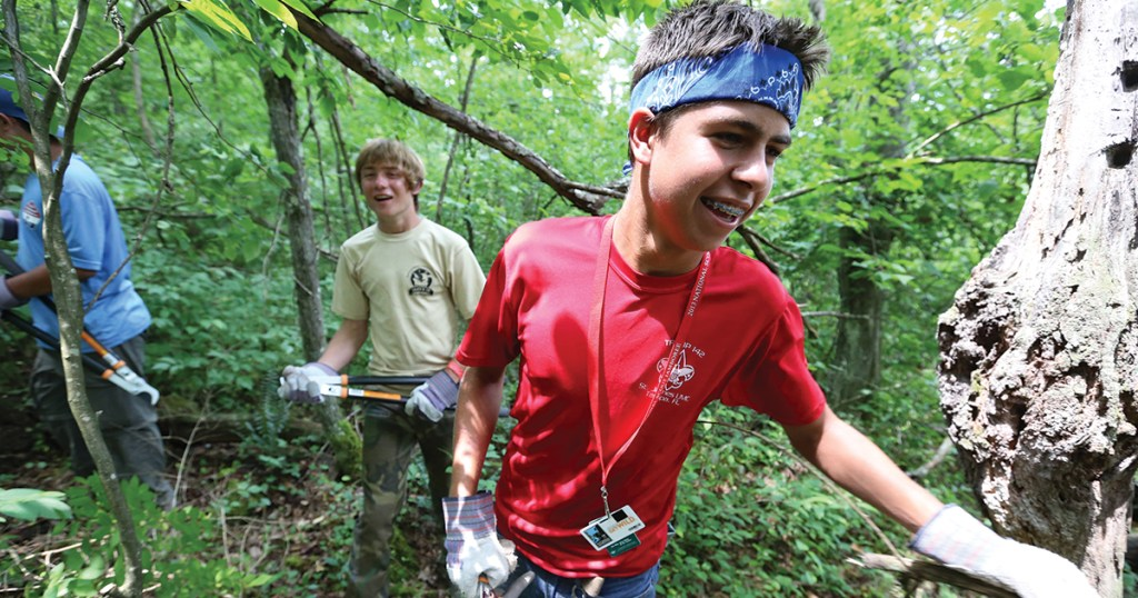 Scouts can help the environment through the new BSA Distinguished Conservation Service Awards program