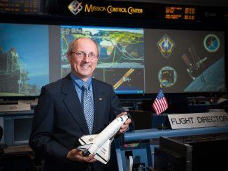 Paul Dye inside the NASA control room