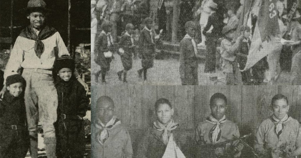 Black Boy Scout troops joined in Scouting's earliest days, though the first troop is difficult to pinpoint