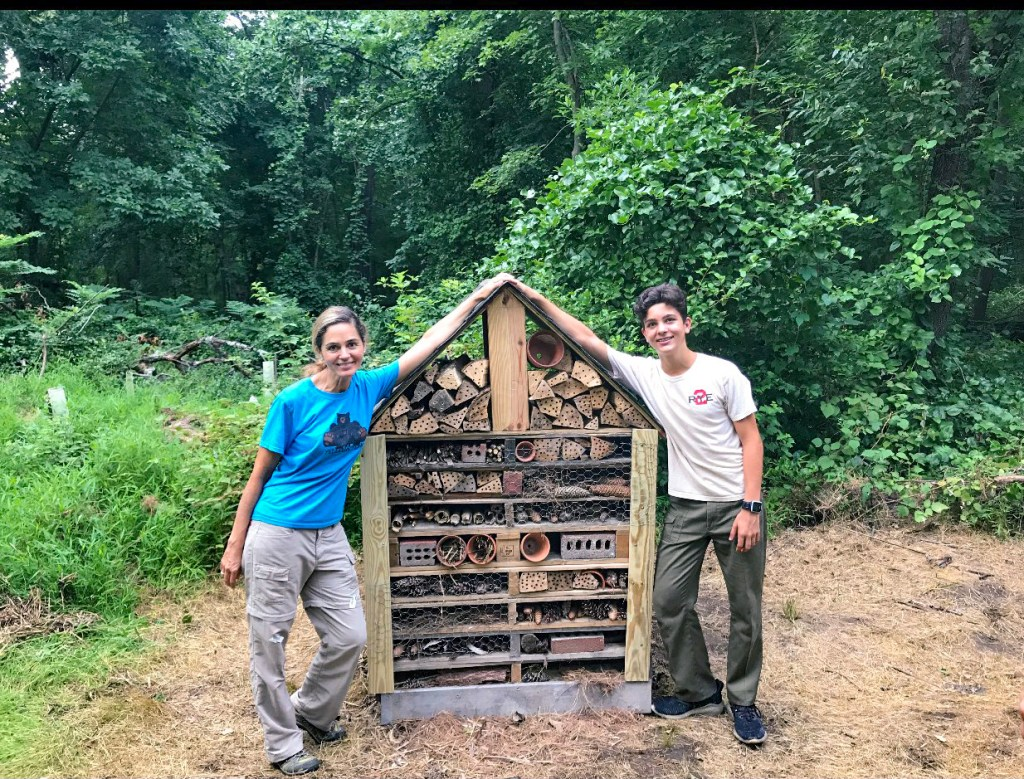 Check out this Scout's buzzworthy Eagle project: an eco-friendly hotel for bugs