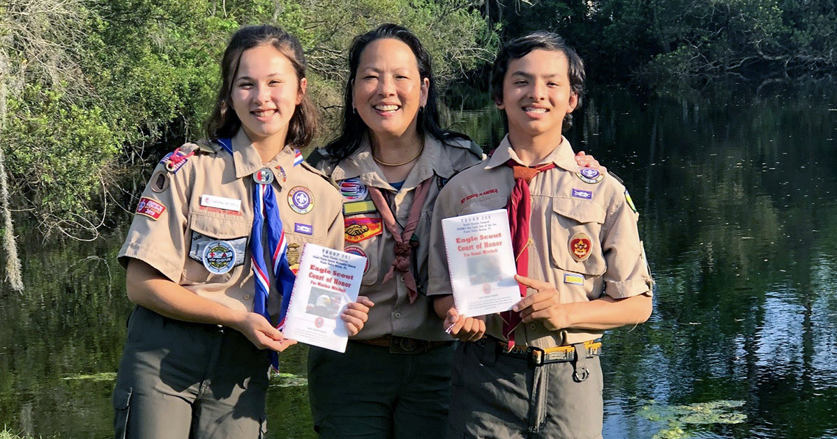 How this proud mom created custom Eagle Scout court of honor programs