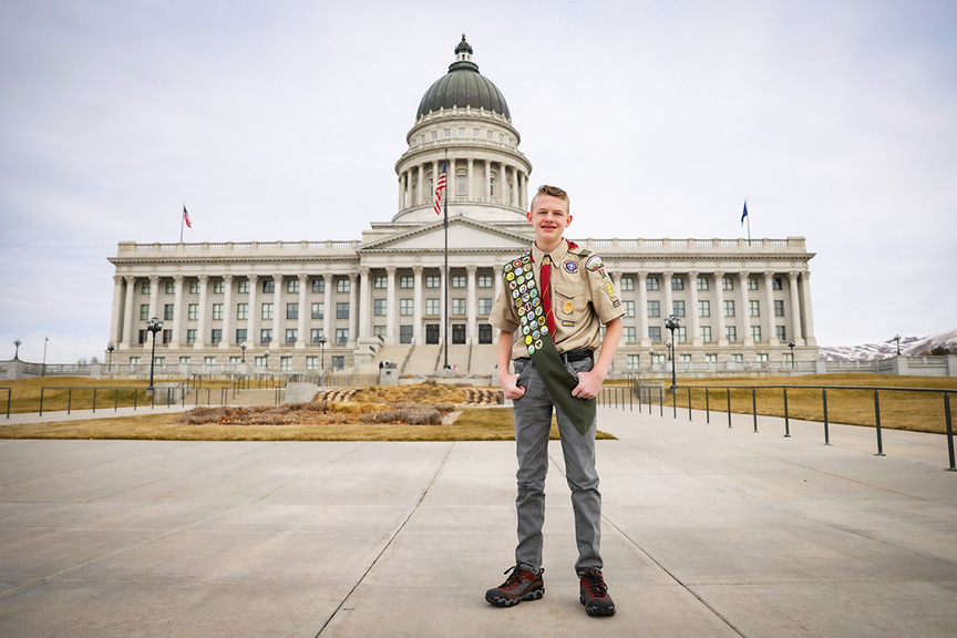 Eagle project brings awareness about organ donation to Utah's roads and highways