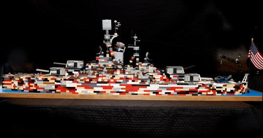 First Class Scout constructs impressive Lego World War II battleship