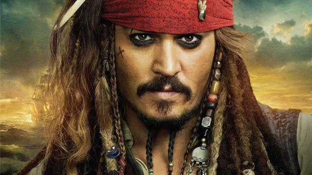 Johnny Depp as Captain Jack Sparrow in Pirates of the Caribbean