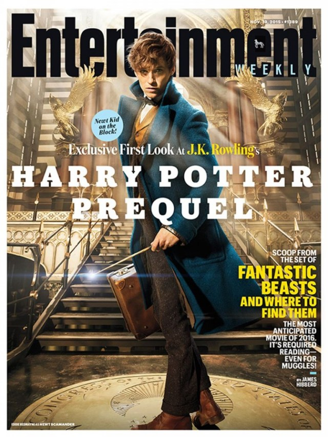 Image of the Fantastic Beasts and Where to Find Them Entertainment Weekly cover