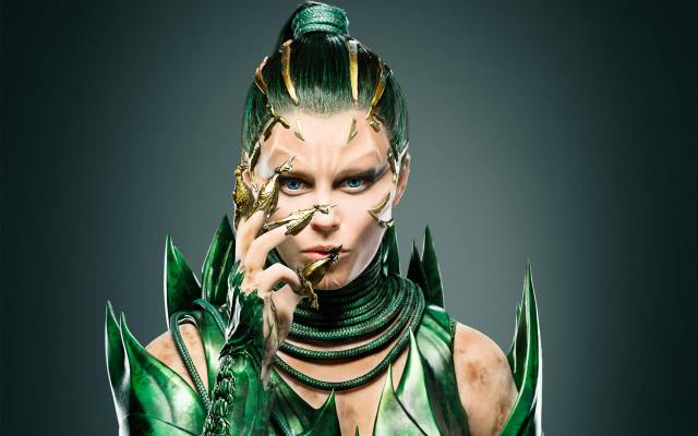 Elizabeth Banks as Rita Repulsa in Power Rangers.