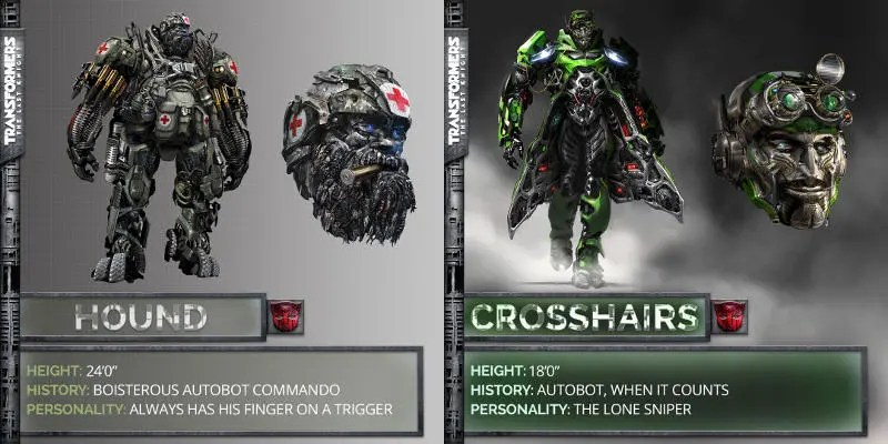 Transformers Fall Of Cybertron 4k Wallpaper Transformers The Last Knight Ecco Hound E Crosshairs