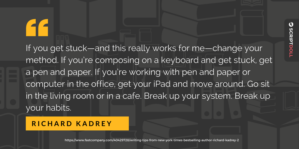 how to beat writer's block with advice from richard kadrey