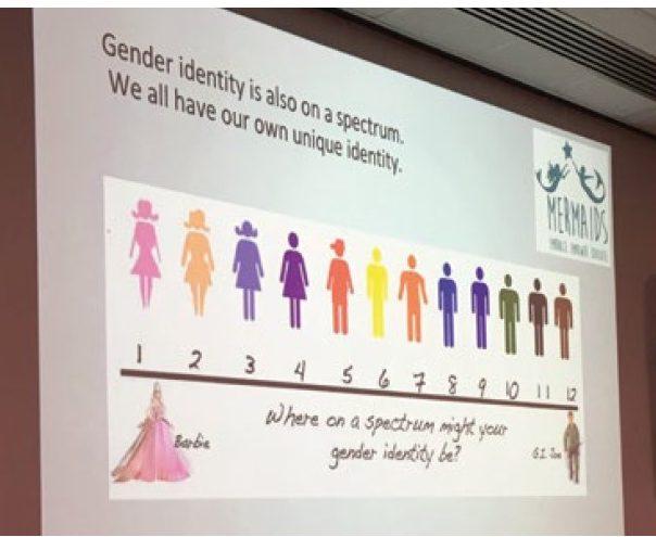 同志團體Mermaids使用的使用的多元性別光譜