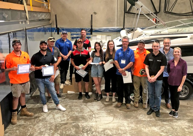 Following this year's Nautique Moomba Masters International Invitational Championships the SeaDek training team conducted a series of Certified Installer and Fabricator trainings at Bundoora Boat Upholstery and over a dozen new installers were added to the network.