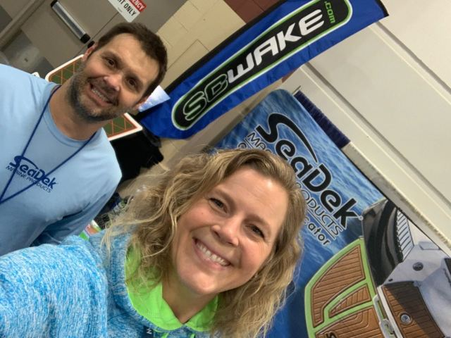 SeaDek Booth with two employees