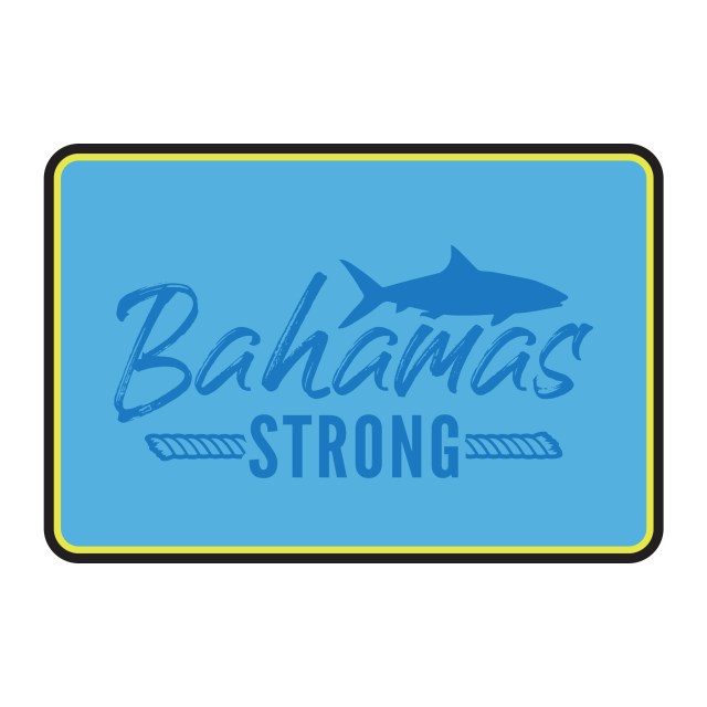 Bahamas Strong Hook Pad in 9mm genuine SeaDek Bahama Blue / Sunburst Yellow / Midnight Black