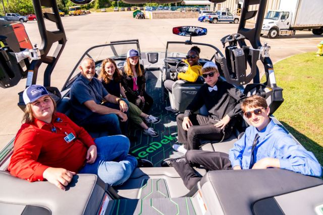Students sitting in a Nautique G23