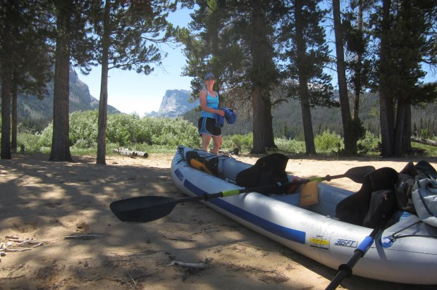 When smoke from a nearby forest fire became too much to bear, Anna and Scott Corwin headed for the mountains and the cool, clear waters of the Green Mountain Lakes of Wyoming with their Sea Eagle FastTrack.