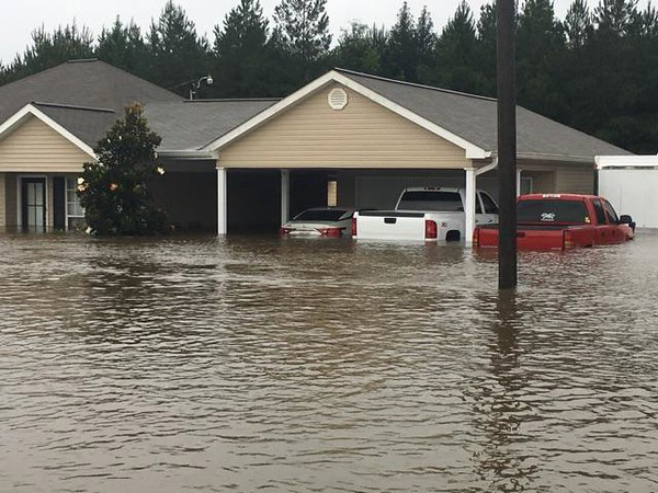 Flood waters reached four feet deep in the area. Homes, cars, property, belongings...everything was damaged or lost.